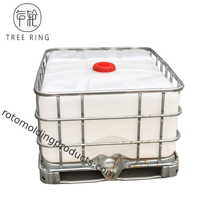 Glavanized Steel Pallet IBC Tote Tanks , Roto Mold Tanks 500L For Acid Storage Transport