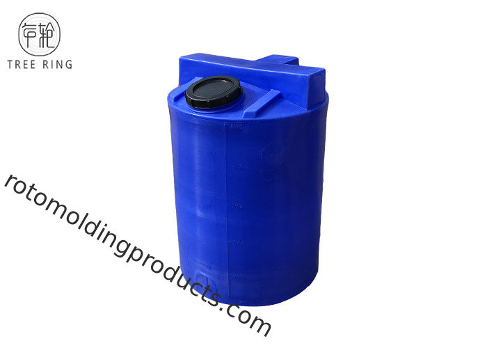 100 Gallon Poly Water Tanks Cylindrical Blue Emergency Indoor For Home