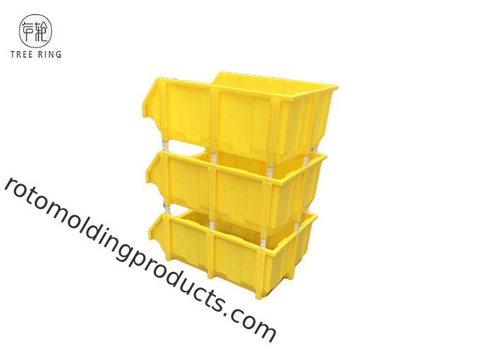 Assembly Bench Plastic Bin Boxes , Stackable Storage Boxes For Warehouse Shelving
