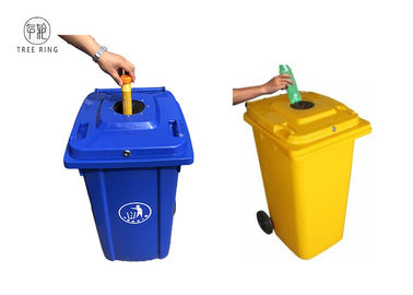 China 100 Lt. Plastic Rubbish Bins Waste Wheelie Bak 120 Liter met Slot en Rubberkurk fabriek